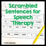 Scrambled Sentences for Speech Therapy