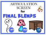 Articulation Screen for Final Consonant Blends