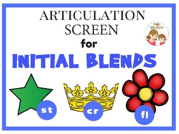 Articulation Screen for Initial Consonant Blends