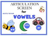 Articulation Screen for Vowels (Australian Ed.)