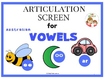 Articulation Screen for Vowels (Australian Ed.)