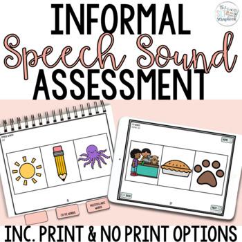 Articulation Screener- Informal Speech Sound Assessment for SLPs