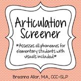 Articulation Screener