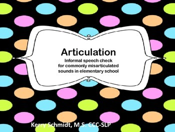 Articulation Screener