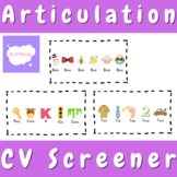 Articulation Screener (CV)