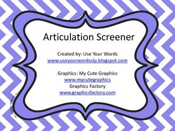 Articulation Screener (All sounds)
