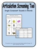 Articulation Screening Tool- Consonant Sounds, Speech Therapy, Baseline Data