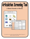 Articulation Screening Tool- S BLENDS ALL POSITIONS, Speech Therapy, Baseline