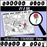 Articulation Search & Find Coloring Pages - R (Initial, Medial, & Final r)