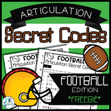 NO PREP Articulation Secret Codes for Speech Therapy- Football Edition {FREEBIE}