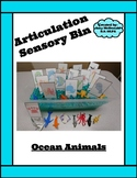 Articulation Sensory Bin - Ocean Animals