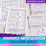 Articulation Sentence Challenge Sheets- Distance Learning
