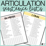 Articulation Sentence Lists ALL SOUNDS