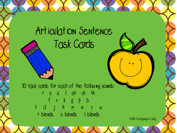 Articulation Sentence Task Cards Bundle!