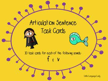 Articulation Sentence Task Cards: /f/ and /v/