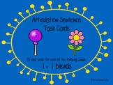 Articulation Sentence Task Cards: /l/ and /l/ blends
