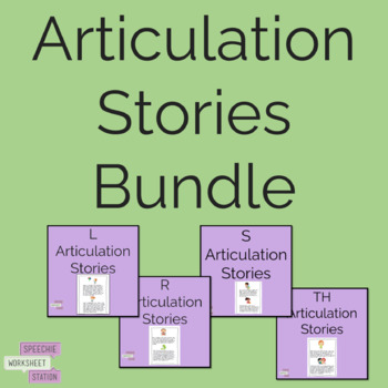***Bundle*** Articulation Sentence and Reading Practice R, S, TH, L