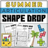 Articulation Shape Drop - A No Prep Speech Therapy Activit