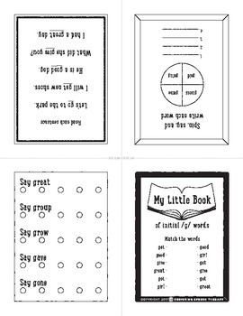 Articulation Sight Word Booklets