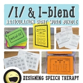 Articulation Sight Word Bundle for L and L-blends