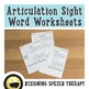 Articulation Sight Word Bundle for L and L-blends