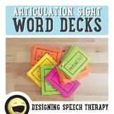 Articulation Sight Words Card Decks