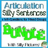 Articulation Silly Sentences Bundle