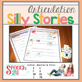 Articulation Silly Story Fill-Ins and Word Lists: S, L, TH, SH, CH, F, V, J
