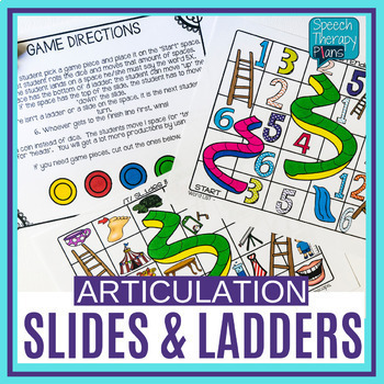 Articulation SLIDES & LADDERS (14 Sounds)