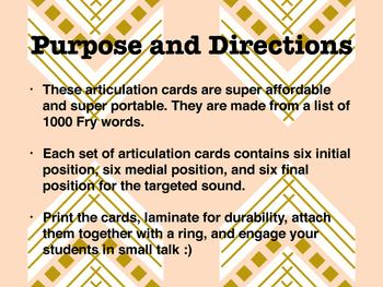 Articulation Small Talk R Cards