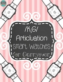 Articulation Smart Watches for Carryover /k-g/
