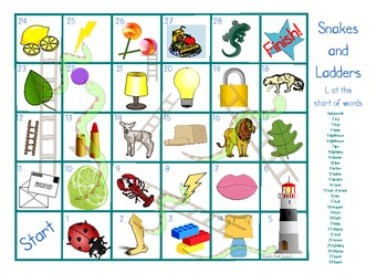 Articulation Snakes & Ladders 'k', 'g' & 'L' initial