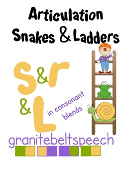 Articulation Snakes & Ladders 's', 'r' & 'L' blends