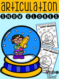 Articulation Snow Globes for Winter Speech Therapy