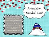 Articulation Snowball Toss!