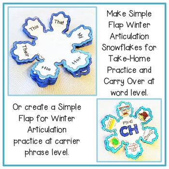 Articulation Snowflake: Snowflake Crafts for Articulation