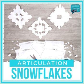 No Prep Articulation Snowflakes
