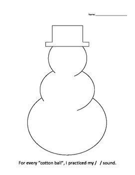 Articulation Snowman Activity (All sounds)