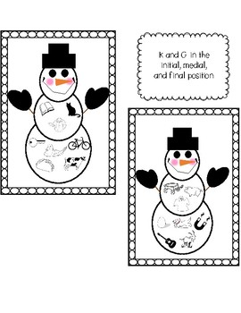 Articulation Snowmen Ornaments for R, L, K, and G in all Positions