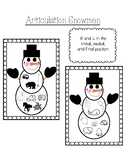 Articulation Snowmen Ornaments for R, L, K, and G in all P