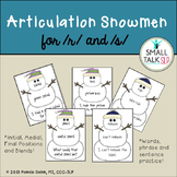 Articulation Snowmen for R and S