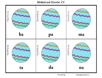 Easter Articulation Sort: Bilabial and Alveolar CV, VC, and CVC Words