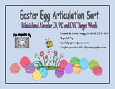 Easter Articulation Sort: Bilabial and Alveolar CV, VC, an