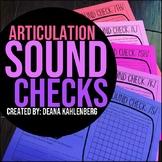 Articulation Sound Checks
