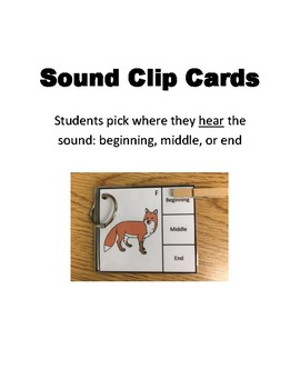 Articulation Sound Clip Cards