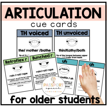 Articulation Sound Placement Cards