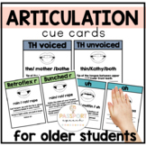 Articulation Sound Placement Cards: Visual Cues