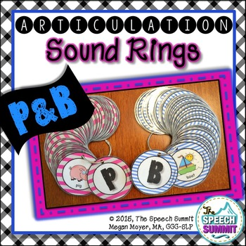Articulation Sound Rings: P and B