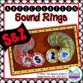 Articulation Sound Rings: S and Z