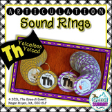 Articulation Sound Rings: Th (Voiced and Voiceless)
